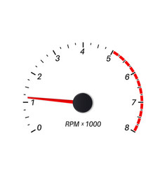 Tachometer scale vector