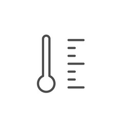 Temperature line icon vector