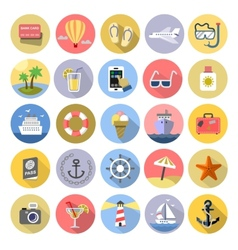 Tourism icons se vector image