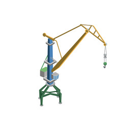 tower crane isometric 3d element vector image