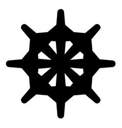 unusual form steering wheel icon vector image