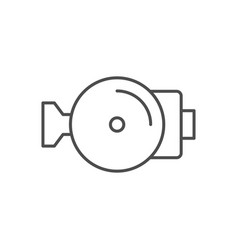 water pump line outline icon vector image