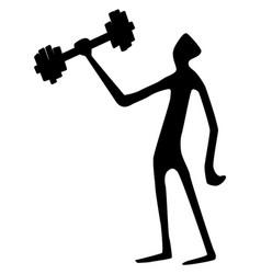 Weight lifter tall silhouette vector