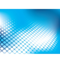 blue abstract background with halftone vector image vector image