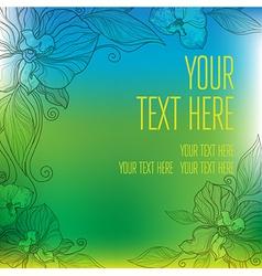 flower orshid background frame 3 vector image vector image