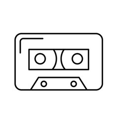 isolated audio cassette tape vector image