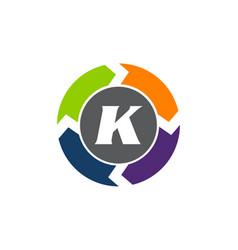 Process planner center letter k vector