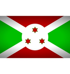 Flag of Burundi vector image