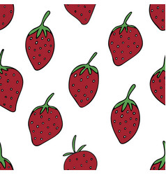 pattern with strawberries vector image