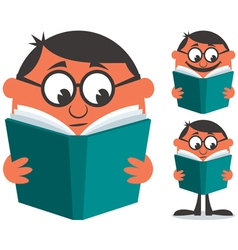Reading Book vector image