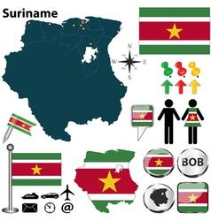 Suriname map vector image vector image