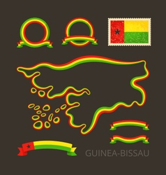 Colors of Guinea-Bissau vector image