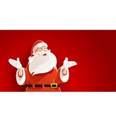 Merry Santa Claus telling vector image