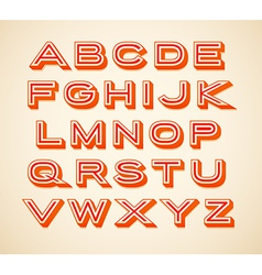 Retro constructor letters collection vector image vector image