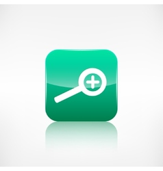 Zoom in icon Search loupe vector image