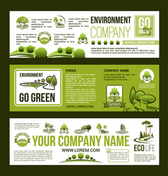 green company business banners set vector image