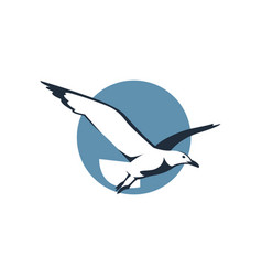 icon with seagull vector image
