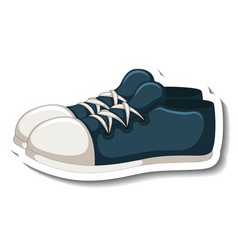 a sticker template with blue sneakers isolated vector image