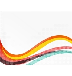Abstract wavy lines with transparent dots vector image
