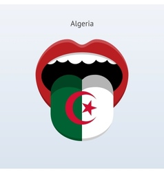 Algeria language abstract human tongue vector