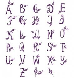 alphabet berries vector image