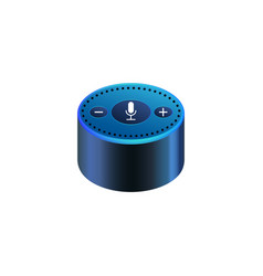 amazon echo dot on white background smart speaker vector image