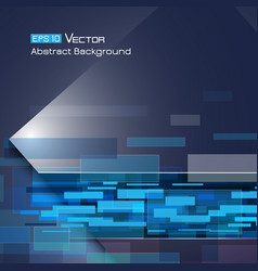 background with blue rectangles 2 vector image