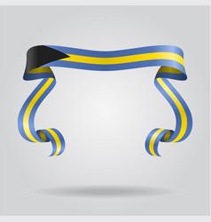 bahamas flag wavy ribbon background vector image