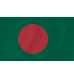 Bangladesh waving flag vector image