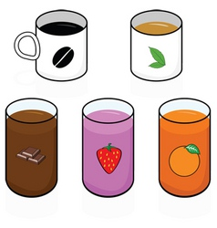 breakfast beverages vector image