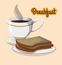 Breakfast design vector image