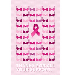 Breast cancer poster thanks for your support vector image