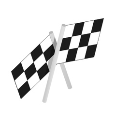 Chequered flags motor racing isometric 3d icon vector image
