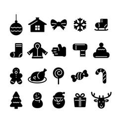 Christmas icon set christmas holiday vector