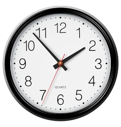 Classic wall circular clock with round points vector