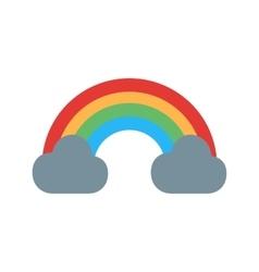 Cloudy with Rainbow vector