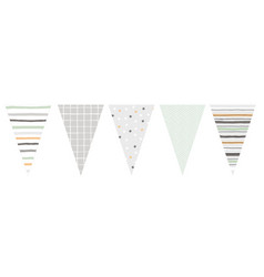 cute hand drawn design bunting vector image