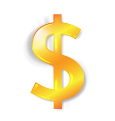 Dollar currency sign isolated vector