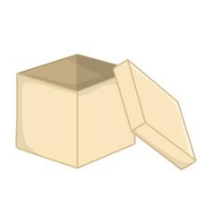 Empty open box vector