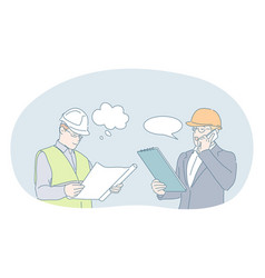 Engineering and construction business concept vector