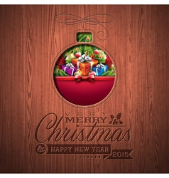 Engraved Merry Christmas typographic design vector