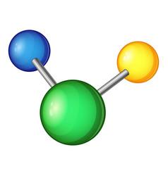 evolution molecule icon cartoon style vector image vector image