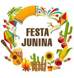 Festa junina cartoon background vector