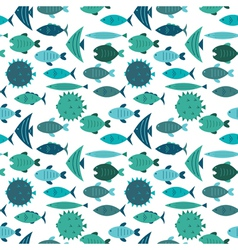 Fish pattern blue vector