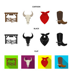 Gates a bull skull a scarf around his neck vector