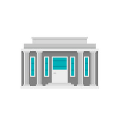 Governmental courthouse icon flat style vector