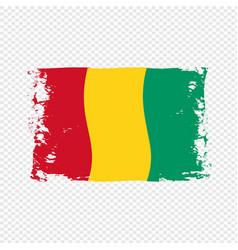 Guinea flag transparent watercolor painted brush vector