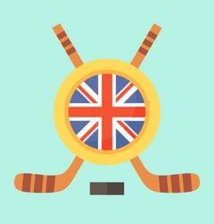 Hockey in United Kingdom vector image