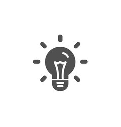 Idea simple icon light bulb sign vector