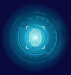 Identification fingerprint poster digital backdrop vector